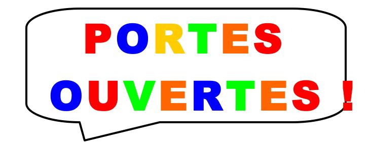 PORTES  OUVERTES !  Les Lundi 12 Novembre Et Jeudi 15 Novembre